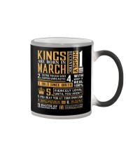 KINGS ARE BORN IN MARCH Color Changing Mug thumbnail
