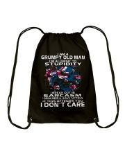 I AM A GRUMPY OLD MAN - AUSTRALIA Drawstring Bag thumbnail
