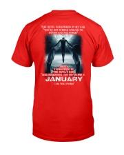 DEVIL WHISPERED - JANUARY Classic T-Shirt back