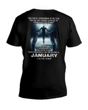 DEVIL WHISPERED - JANUARY V-Neck T-Shirt tile