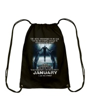 DEVIL WHISPERED - JANUARY Drawstring Bag thumbnail