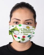 All msk Prevents is Getting a Fine - g r i n c h Cloth face mask aos-face-mask-lifestyle-01