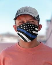 Police flag - mask3 Cloth face mask aos-face-mask-lifestyle-06