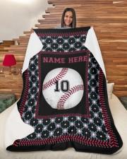 """Personalized Baseball Large Sherpa Fleece Blanket - 60"""" x 80"""" aos-sherpa-fleece-blanket-60x80-lifestyle-front-11"""