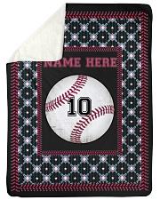 "Personalized Baseball Large Sherpa Fleece Blanket - 60"" x 80"" front"