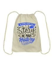 4th grade-history-green blue Drawstring Bag tile