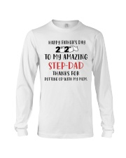 amazing step dad fathers day 2020 putting up Long Sleeve Tee tile
