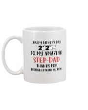 amazing step dad fathers day 2020 putting up Mug back