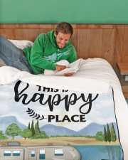 """Personalized Camping Blanket 2 Large Sherpa Fleece Blanket - 60"""" x 80"""" aos-sherpa-fleece-blanket-60x80-lifestyle-front-07"""