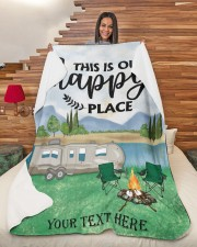 """Personalized Camping Blanket 2 Large Sherpa Fleece Blanket - 60"""" x 80"""" aos-sherpa-fleece-blanket-60x80-lifestyle-front-11"""