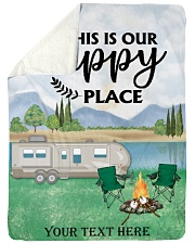 """Personalized Camping Blanket 2 Large Sherpa Fleece Blanket - 60"""" x 80"""" front"""