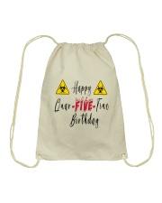 Happy Quar-Five-Tine Birthday Drawstring Bag thumbnail