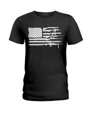 2AF gun american flag Ladies T-Shirt thumbnail