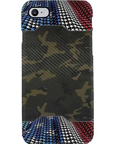American flag camo fiber phone case