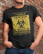 Thirteen - quarantine Classic T-Shirt apparel-classic-tshirt-lifestyle-26