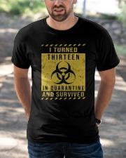 Thirteen - quarantine Classic T-Shirt apparel-classic-tshirt-lifestyle-front-50