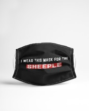 I wear this mask for the sheeple Cloth face mask aos-face-mask-lifestyle-22