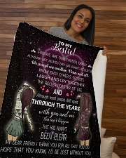 """To my bestie i'd be lost without you Sherpa Fleece Blanket - 50"""" x 60"""" aos-sherpa-fleece-blanket-50x60-lifestyle-front-09b"""