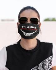 I'm Smiling Under my Mask Cloth face mask aos-face-mask-lifestyle-02