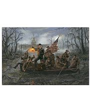 trump crossing the swamp 17x11 Poster front