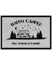 """Custom name door mat - happy camper - 02 Doormat 22.5"""" x 15""""  front"""