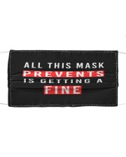 All This Mask Prevents is Getting a Fine Cloth face mask front