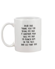 HQH994 Thank You For Being My Dad Fathers Day 2020 Mug back