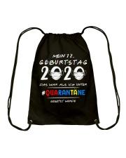 Mein 72 Geburtstag Drawstring Bag tile