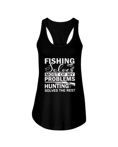 Fishing Solves Hunting Tshirt