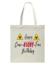 Happy Quar-Eight-Tine Birthday Tote Bag tile