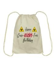 Happy Quar-Eight-Tine Birthday Drawstring Bag tile