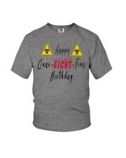 Happy Quar-Eight-Tine Birthday Youth T-Shirt front