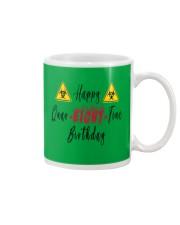 Happy Quar-Eight-Tine Birthday Mug tile