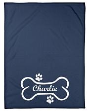 "Personalized Pet Blanket - Custom dog name Small Fleece Blanket - 30"" x 40"" front"