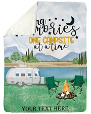 """Personalized Camping Blanket 11 Large Sherpa Fleece Blanket - 60"""" x 80"""" front"""