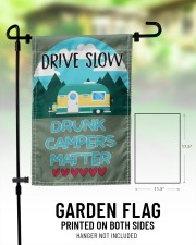 "Drive slow drunk campers matter 11.5""x17.5"" Garden Flag aos-garden-flag-11-5-x-17-5-lifestyle-front-01"