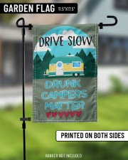 "Drive slow drunk campers matter 11.5""x17.5"" Garden Flag aos-garden-flag-11-5-x-17-5-lifestyle-front-11"