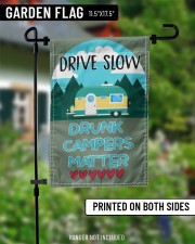 "Drive slow drunk campers matter 11.5""x17.5"" Garden Flag aos-garden-flag-11-5-x-17-5-lifestyle-front-13"
