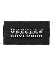 useless governor yard sign Cloth face mask thumbnail