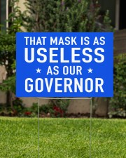 useless governor yard sign 18x12 Yard Sign aos-yard-sign-18x12-lifestyle-front-01