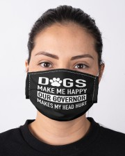 dogs make me happy our governor makes my head hurt Cloth face mask aos-face-mask-lifestyle-01