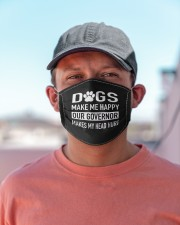 dogs make me happy our governor makes my head hurt Cloth face mask aos-face-mask-lifestyle-06