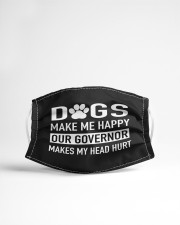dogs make me happy our governor makes my head hurt Cloth face mask aos-face-mask-lifestyle-22