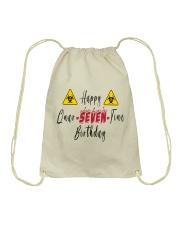 Happy Quar-Seven-Tine Birthday Drawstring Bag tile