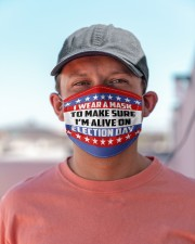I'm Alive On Election Day Cloth face mask aos-face-mask-lifestyle-06