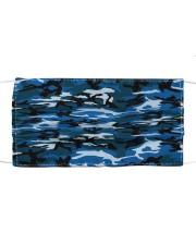 Patriotic camo blue Cloth face mask front