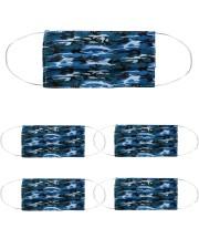 Patriotic camo blue Mask tile