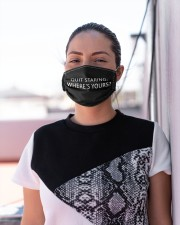 Quit staring wheres yours Cloth face mask aos-face-mask-lifestyle-04