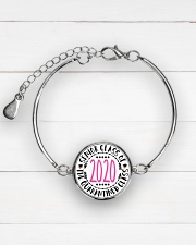 class of quarantined 2020 bracelet Metallic Circle Bracelet aos-bracelet-metal-front-lifestyle-2