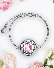 class of quarantined 2020 bracelet Metallic Circle Bracelet aos-bracelet-metal-front-lifestyle-6